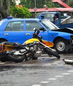 Fatal Road Accident between a Motorbike and a Taxi